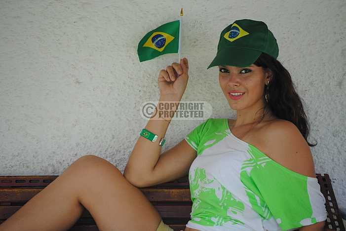 Torcedora brasileira - Football fans
